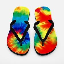 Psychedelic Tie Dye Pattern Flip Flops