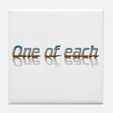 Twins - one of each Tile Coaster