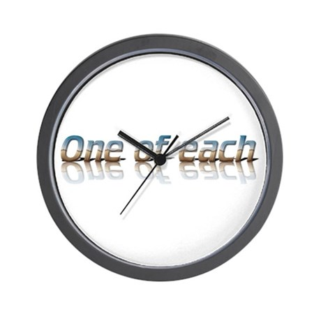 Twins - one of each Wall Clock
