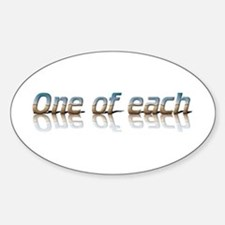 Twins - one of each Oval Decal