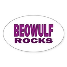 Beowulf Rocks Oval Decal