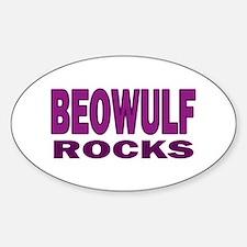 Beowulf Rocks Oval Decal