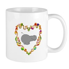 Fancy Heart Hippo Mug