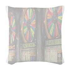 Las Vegas Slots Woven Throw Pillow
