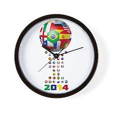 Brasil Futebol 2014 Wall Clock