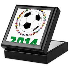 Brasil Futebol 2014 Keepsake Box