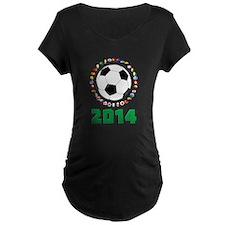 Brasil Futebol 2014 Maternity T-Shirt