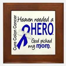 Colon Cancer HeavenNeededHero1.1 Framed Tile