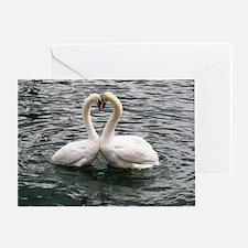 Cute Peace love swimming Greeting Card
