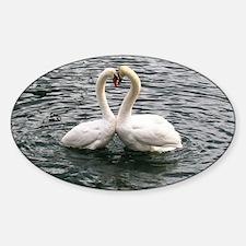 Cute Elegant peace sign Sticker (Oval)