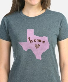 Texas Home Light Pink With Brown T-Shirt