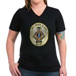 USS DAVID R. RAY Women's V-Neck Dark T-Shirt