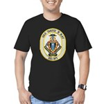 USS DAVID R. RAY Men's Fitted T-Shirt (dark)