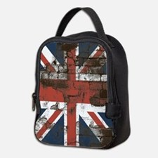 Distressed Union Jack Flag Brick Wall Neoprene Lun