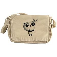 Cute Panda with Balloon Messenger Bag