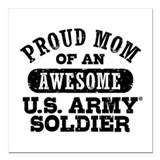 Army mom Square Car Magnets