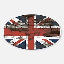 Distressed Union Jack Flag Brick Wall Decal