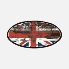 Distressed Union Jack Flag Brick Wall Patches