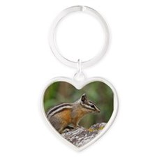 chipmunk Heart Keychain