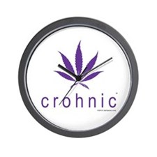 Crohnic - Cure for Crohns - Print Lights Wall Cloc