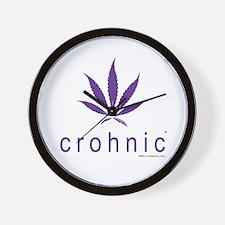 Crohnic - Cure for Crohns - Print Lights Wall Cloc