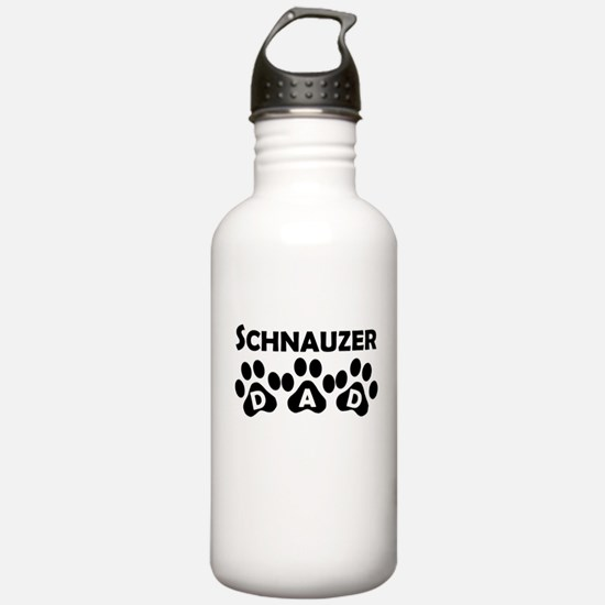 Schnauzer Dad Water Bottle