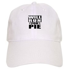 Run for Pie (Black) Baseball Baseball Cap
