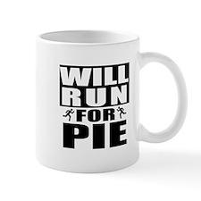 Run for Pie (Black) Mugs