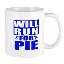 Run for Pie (Blue) Mugs