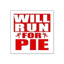 Run for Pie (Red) Sticker