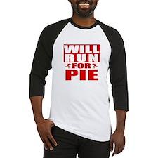 Run for Pie (Red) Baseball Jersey