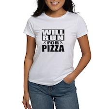Run for Pizza (Black) T-Shirt