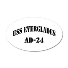 USS EVERGLADES 20x12 Oval Wall Decal