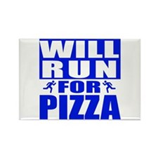 Run for Pizza (Blue) Magnets