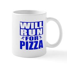Run for Pizza (Blue) Mugs