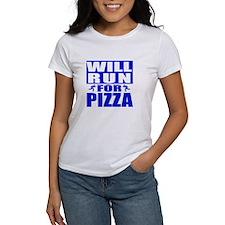 Run for Pizza (Blue) T-Shirt