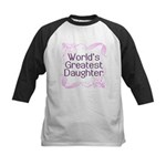 World's Greatest Daughter Kids Baseball Jersey