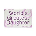 World's Greatest Daughter Rectangle Magnet (100 pa