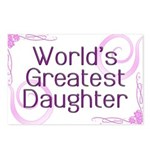 World's Greatest Daughter Postcards (Package of 8)