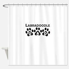 Labradoodle Dad Shower Curtain