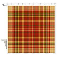 Pizza Plaid Shower Curtain