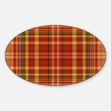 Pizza Plaid Sticker (Oval)