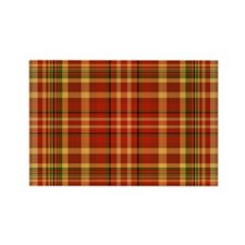 Pizza Plaid Rectangle Magnet (100 pack)