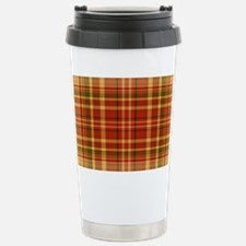 Pizza Plaid Stainless Steel Travel Mug