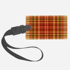 Pizza Plaid Luggage Tag