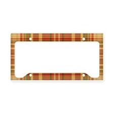 Pizza Plaid License Plate Holder