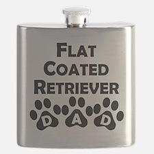 Flat-Coated Retriever Dad Flask