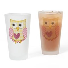 Yellow owl Drinking Glass