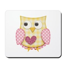 Yellow owl Mousepad