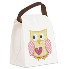 Yellow owl Canvas Lunch Bag